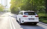 Kia Ceed Sportswagon PHEV 2020 first drive - on the road rear
