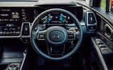 Kia Sorento hybrid 2020 UK first drive review - steering wheel