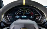 Lamborghini Aventador SVJ 2018 first drive review instrument cluster