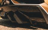 Lamborghini Aventador SVJ Roadster 2019 first drive review - rear diffuser