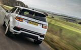 11 Land Rover Discovery P300e 2021 UK FD on road rear