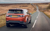 Land Rover Discovery Sport 2019 UK first drive review - on the road rear