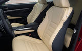 Lexus RC 300h 2019 first drive review - front seats