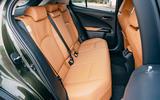11 Lexus UX300e 2021 UK first drive review rear seats