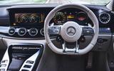 Mercedes-AMG GT 63 S 4-door Coupé 2019 UK first drive review - steering wheel