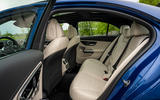 11 Mercedes Benz C Class C300e 2021 review rear seats