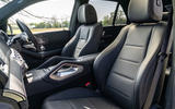 Mercedes-Benz GLE 400d 2019 UK first drive review - front seats