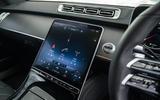 11 Mercedes S Class S400d 2021 UK FD infotainment