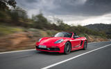 Porsche Boxster T 2019 first drive review - on the road front