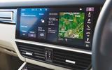 Porsche Cayenne Turbo S E-Hybrid 2020 UK first drive review - touchscreen