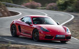 Porsche Cayman T 2019 first drive review - cornering front