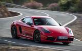Porsche Cayman T 2019 first drive review - cornering front