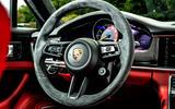 Porsche Panamera e-Hybrid 2020 UK first drive review - steering wheel