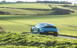 Porsche Taycan 4S 2020 UK first drive review - on the road rear