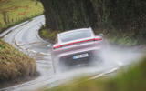 11 Porsche Taycan RWD 2021 UK first drive review on road rear
