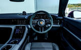 Porsche Taycan Turbo 2020 UK first drive review - steering wheel