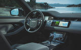 Range Rover Evoque 2019 first drive review - dashboard