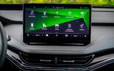 11 Skoda Enyaq 2021 LHD UK first drive infotainment