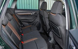 Skoda Karoq Scout 2019 first drive review - rear seats