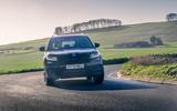 11 Skoda Kodiaq Sportline 2021 UK first drive cornering front