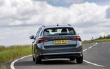 11 Skoda Octavia E Tec hybrid 2021 UK first drive review cornering rear