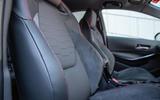 Toyota Corolla hatchback 1.8 hybrid 2019 UK review - seats