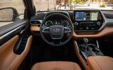 Toyota Highlander Hybrid 2020 first drive review - dashboard