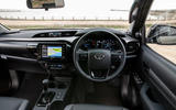 Toyota Hilux Invincible X 2020 UK first drive review - dashboard