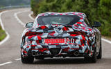 Toyota Supra 2019 prototype first drive review on the road rear
