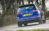 11 Volkswagen Tiguan R 2021 UK first drive review cornering rear