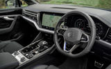 11 Volkswagen Touareg R eHybrid 2021 UK first drive review dashboard