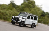 Land Rover Defender cornering