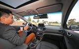 Passenger in self-driving car