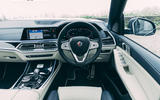 12 Alpina XB7 2021 UK first drive review dashboard