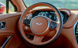 Aston Martin DBX 2020 UK first drive review - steering wheel