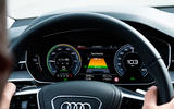 Audi A8 60 TFSIe 2020 UK first drive review - instruments