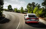 Audi RS E-tron GT 2021 prototype drive - cornering rear
