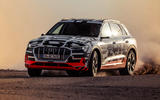 Audi e-Tron 2019 prototype first drive review - cornering front