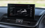 Audi Q5 40 TDI Sport 2020 UK first drive review - infotainment