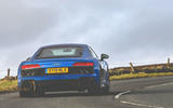 Audi R8 2019 UK first drive review - cornering rear