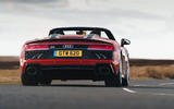 Audi R8 Spyder 2019 UK first drive review - cornering rear