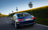 Audi S6 2019 first drive review - on the road rear