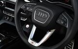 12 Audi SQ5 TDI 2021 UK FD steering wheel
