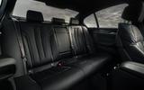 BMW 5 Series M550i 2020 UK first drive - rear seats