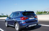 BMW X3 xDrive30e 2020 first drive review - on the road rear