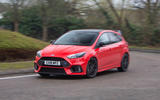 Ford Focus RS Race Red Edition cornering front