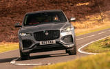 12 Jaguar F Pace 2021 UK first drive review cornering front