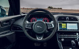 Jaguar XE SV Project 8 Touring 2019 UK first drive review - steering wheel