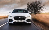 12 Jaguar XF 2021 UK first drive review on road nose
