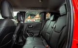 Jeep renegade Longitude 2019 UK first drive review - rear seats